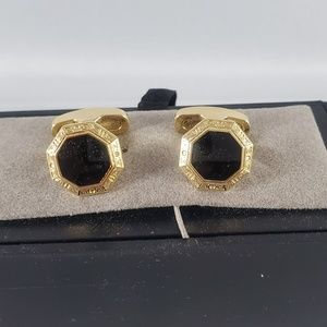 NEW Jos. A. Bank Goldtone black octagon cuff links
